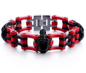 Tough  Bikers Skulls Bracelet