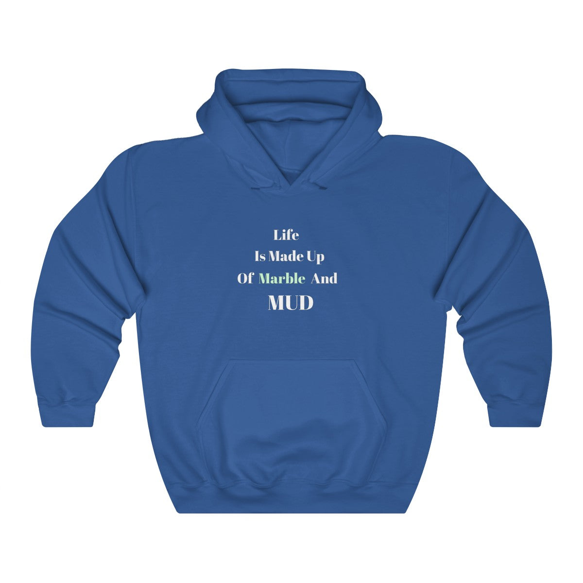 Unisex Blue Marble Hooded Sweatshirt