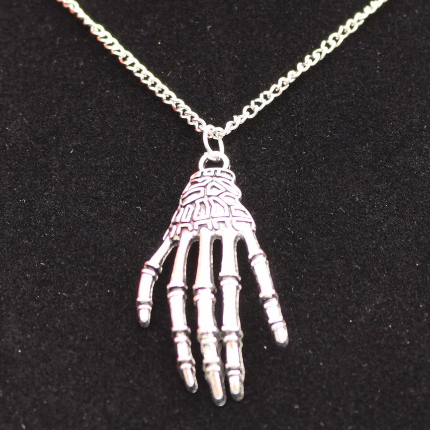 Skull Hand Claw Bone Necklaces Punk Pendant