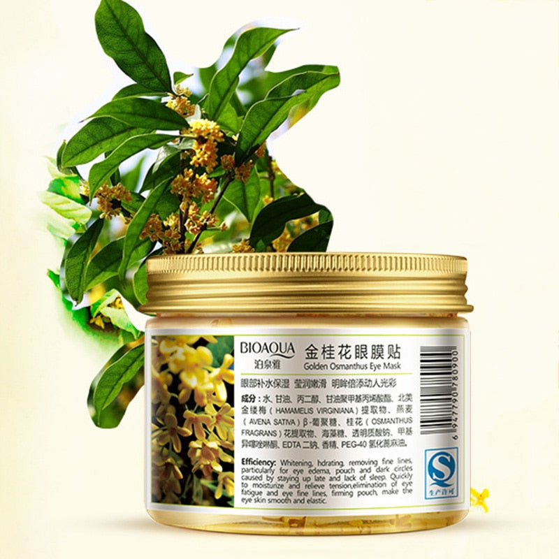 80 pcs/ bottle Gold Osmanthus eye mask