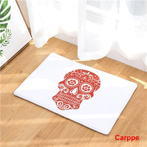 Fashion Style Skull Head  Print Anti-slip Carpets