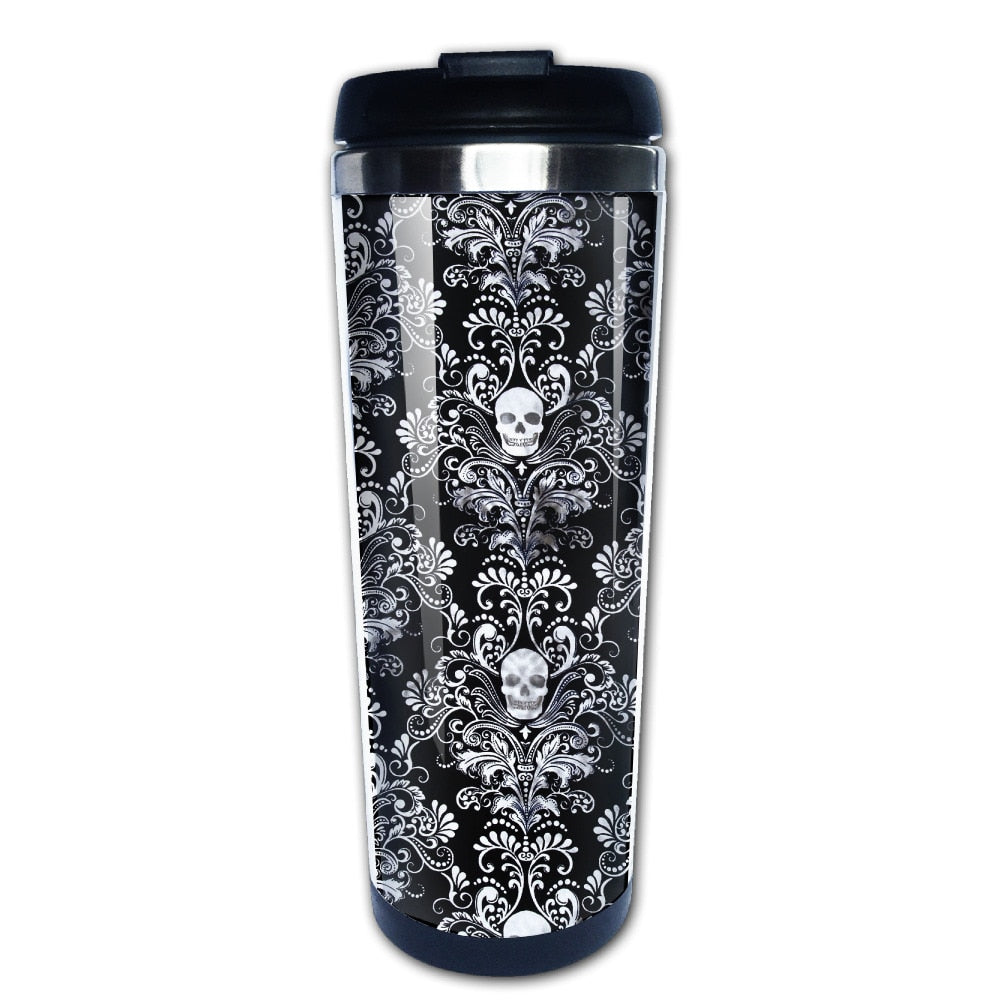 Skull Coffee Stainless Steel Travel Mug