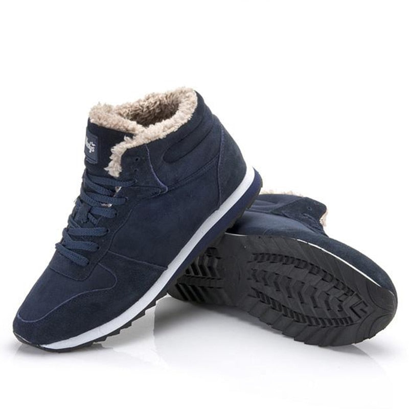 Genuine Leather Winter Warm  Men  Shoes