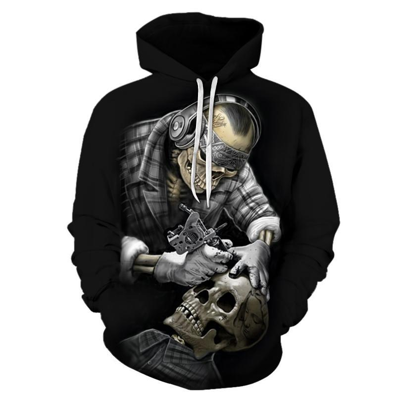 New Funny Skull 3D Men & Women Hoodies