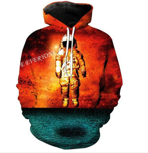 Hot Selling 3D Printing Skulls Hoodies Plus Size Sweatshirt