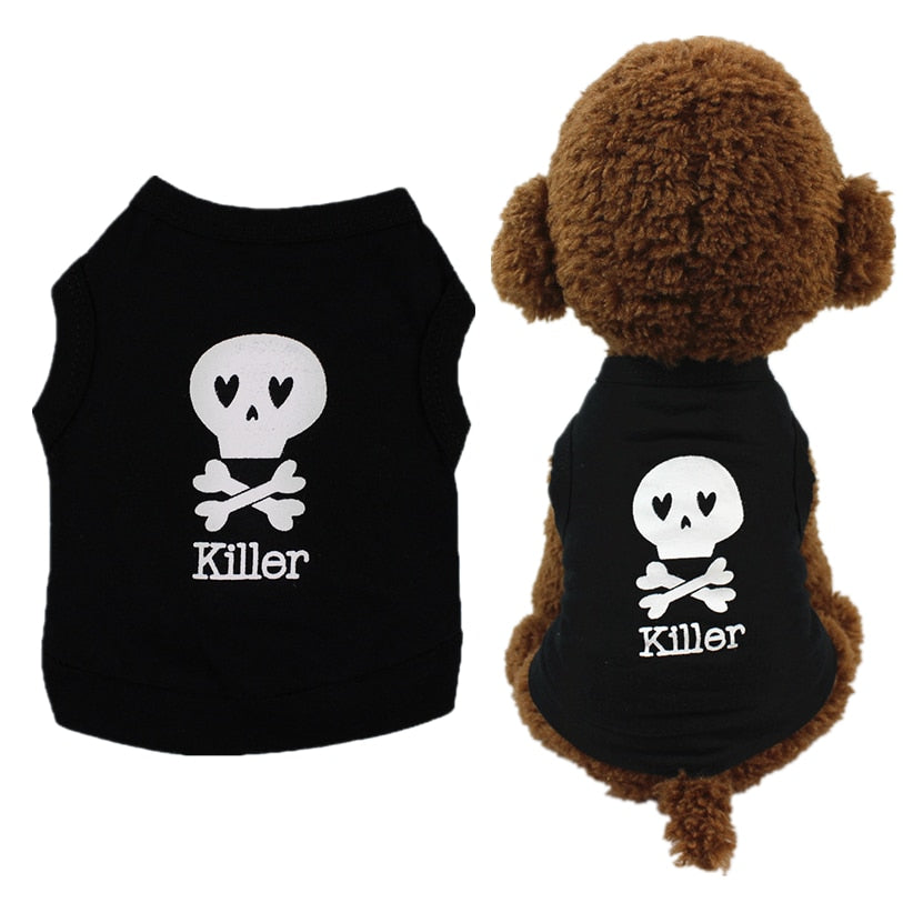Skull Killer Cute Pet Dog Vest  For Spring/Summer