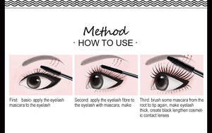 2 in 1 False Eyelashes + Mascara 3D Fiber Lengthening Mascara
