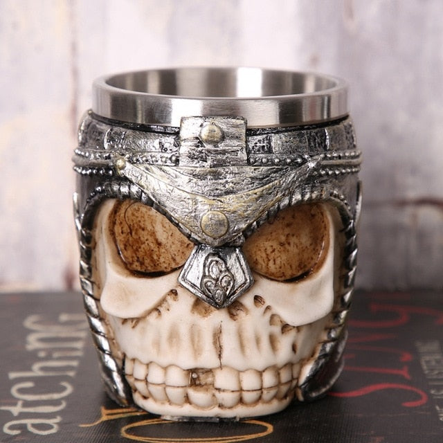3D Viking Warrior 450ML Gothic Skull Mug