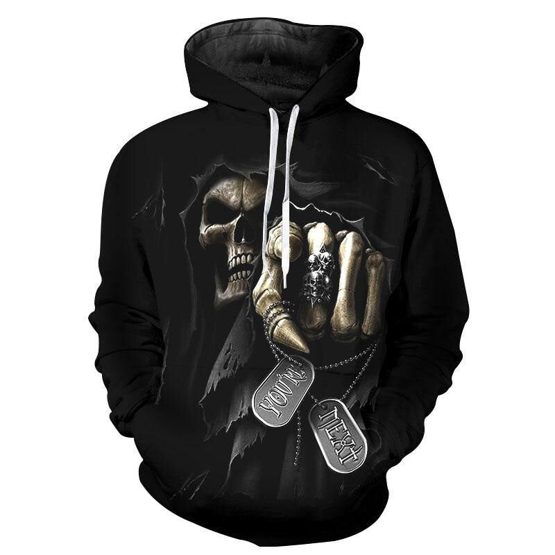 Unisex Hoody Sweatshirts Melted Tattoos Skull 3D Printed