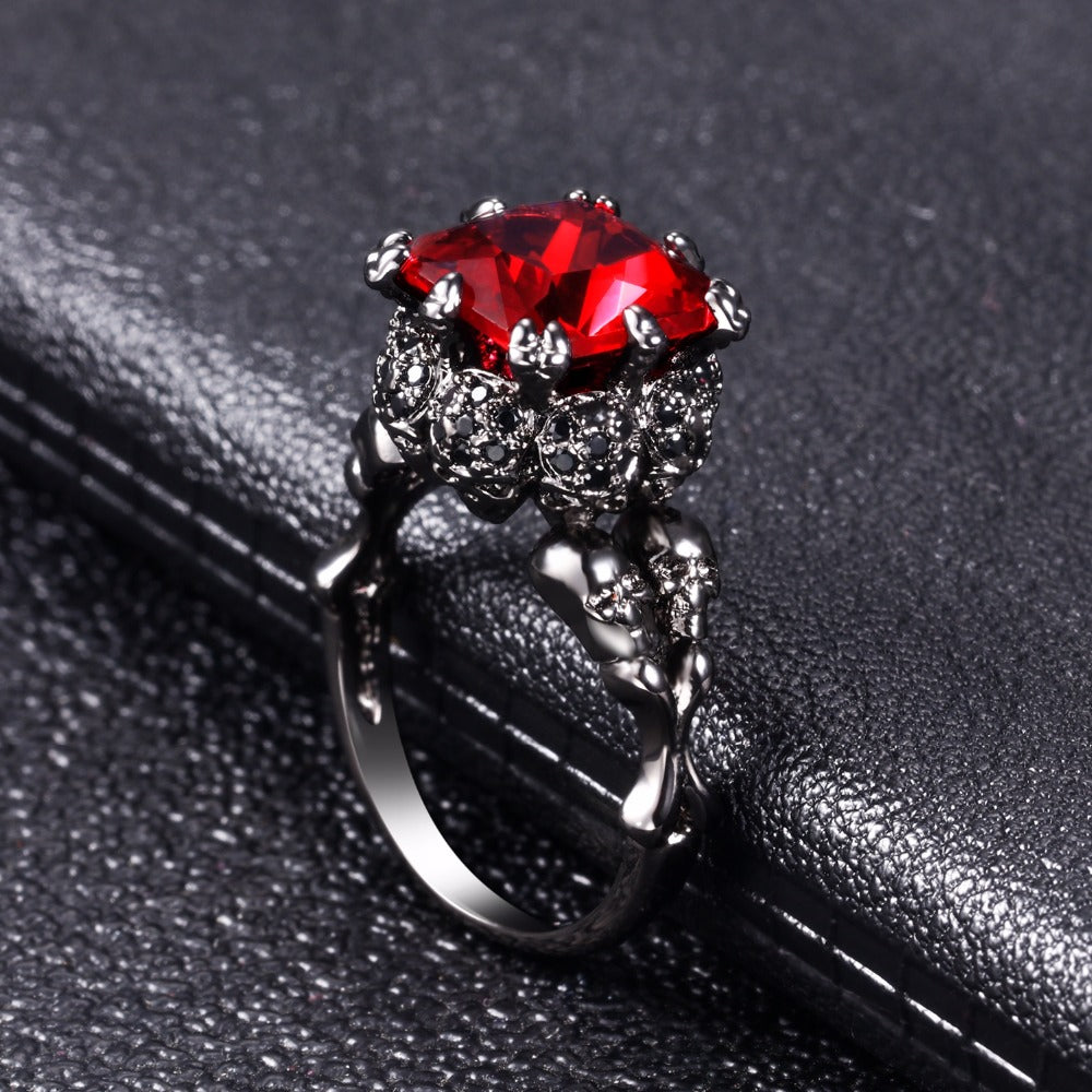Skull  Punk style Motor Biker Ring For Men & Women