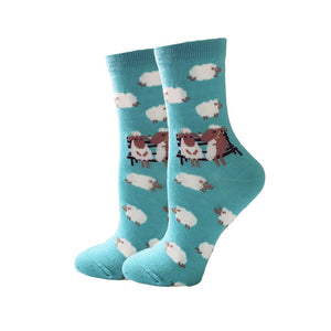 Colorful Cartoon Cute Funny Women's Socks