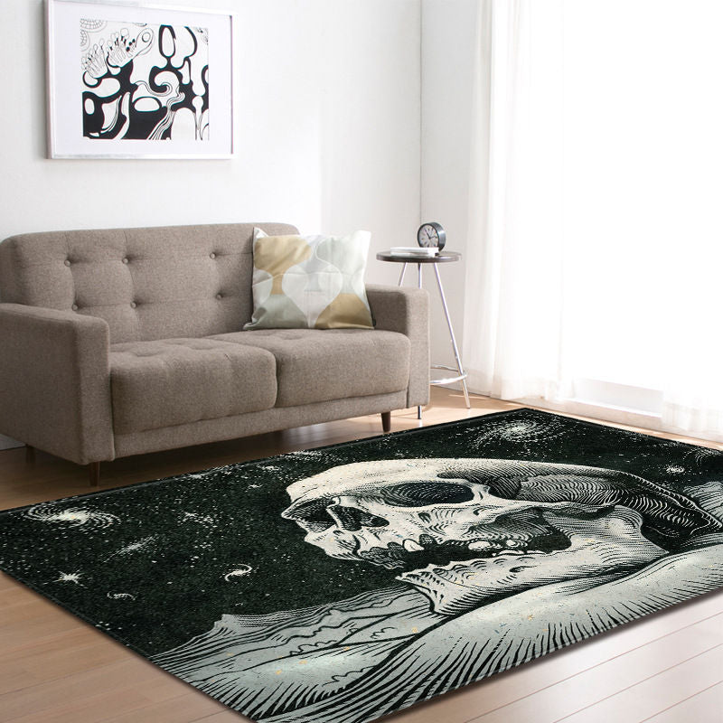 Nordic 3D Skull Area Rugs- Carpet for Living Room