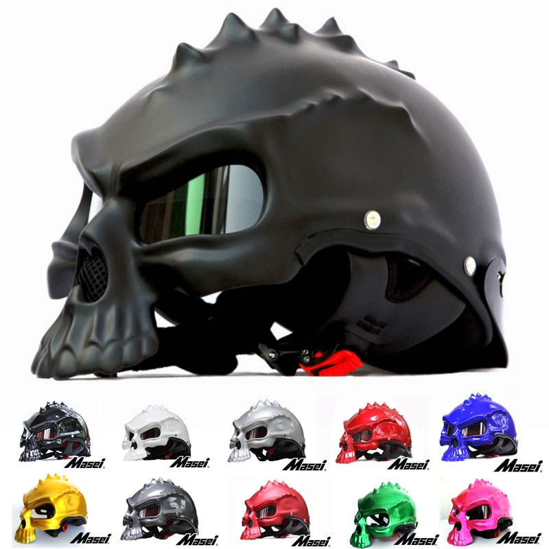 Dual Use Skull Motorcycle Helmet 15 color
