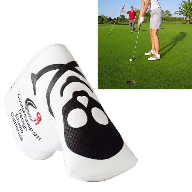 Two Colors Skull PU Golf Headcover for Blade Golf Putter
