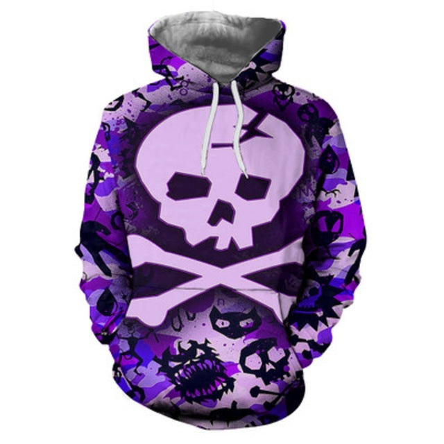 large Size Tattoo men's hooded sweatshirt Melt 3D Printing