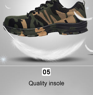 Camouflage Anti-slip Work Safety Shoes