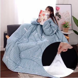 Comforters  Lazy Quilt Blanket with Sleeves
