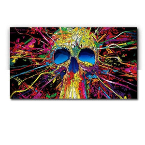 1 Pieces Skull Canvas Paintings Wall Picture