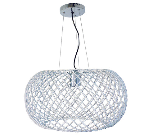 Suspension Hanabi en métal coloris blanc - Lampe Deco