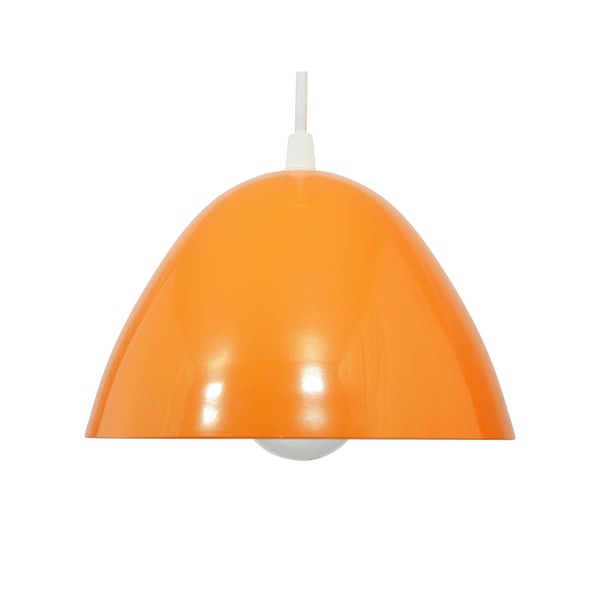 Suspension Nissa en métal coloris argent, blanc, violet, orange, prune ou rouge style pop