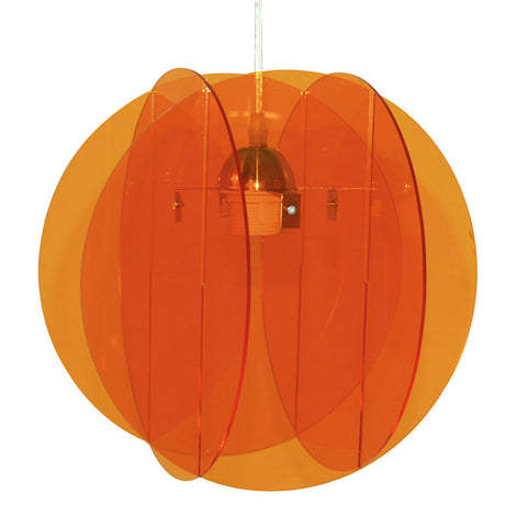 Suspension Rondline en plexiglass coloris orange style pop - Lampe Deco