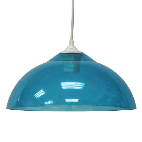 Suspension Fozzi en acrylique coloris bleu, transparent, rouge ou vert style pop - Lampe Deco