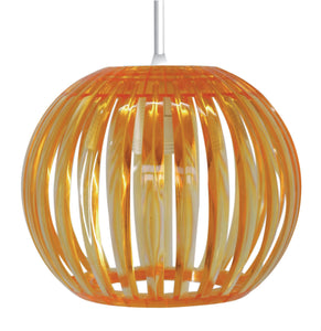 Suspension Junon GM en acrylique coloris orange style pop - Lampe Deco