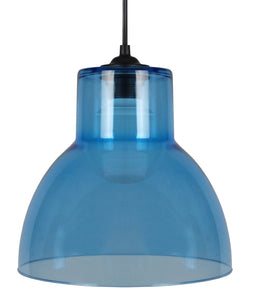 Suspension Cloche en verre coloris bleu ou rose style pop - Lampe Deco