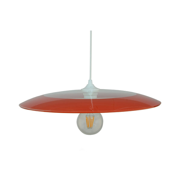 Suspension Astroide en verre coloris, noir, rouge ou rose - Lampe Deco