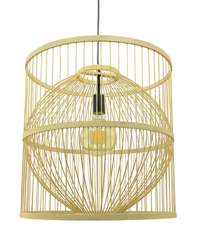 Suspension Shuang en bambou coloris naturel - Lampe Deco