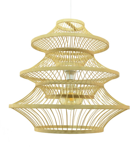 Suspension Baota en bambou coloris naturel - Lampe Deco