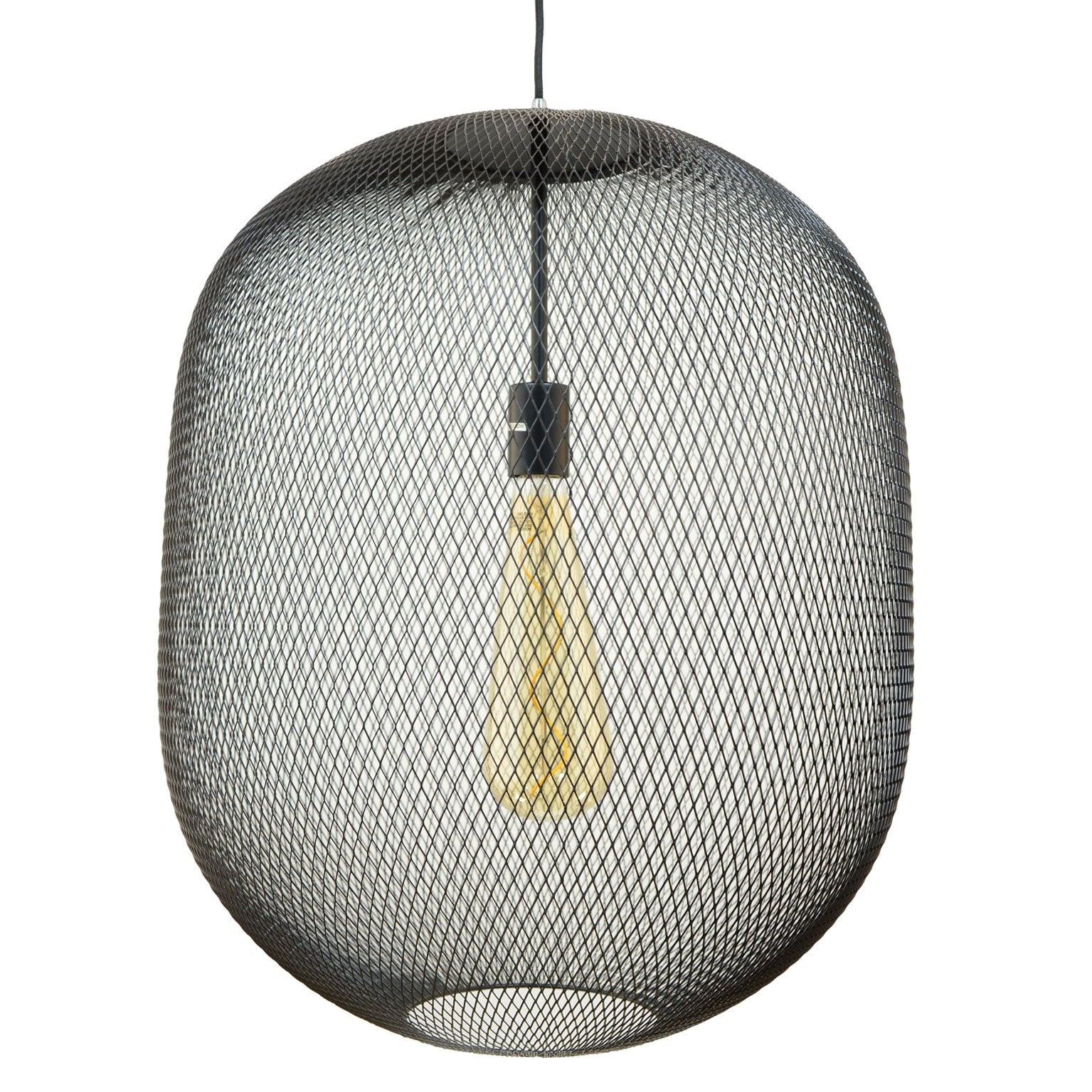 Suspension Averline GM en grillage coloris noir ou cuivre - Lampe Deco