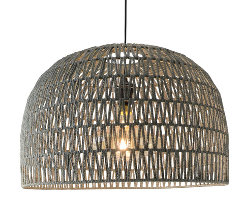 Suspension Balikpa en fibres naturelles coloris naturel - Lampe Deco
