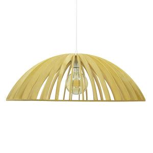 Suspension Sonigo PM en lamelles de bois coloris naturel ou wengé - Lampe Deco