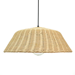 Suspension Doriane en rotin coloris naturel style campagne - Lampe Deco