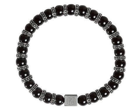 Men's Black Onyx Bracelet - stones for power, protections and strength