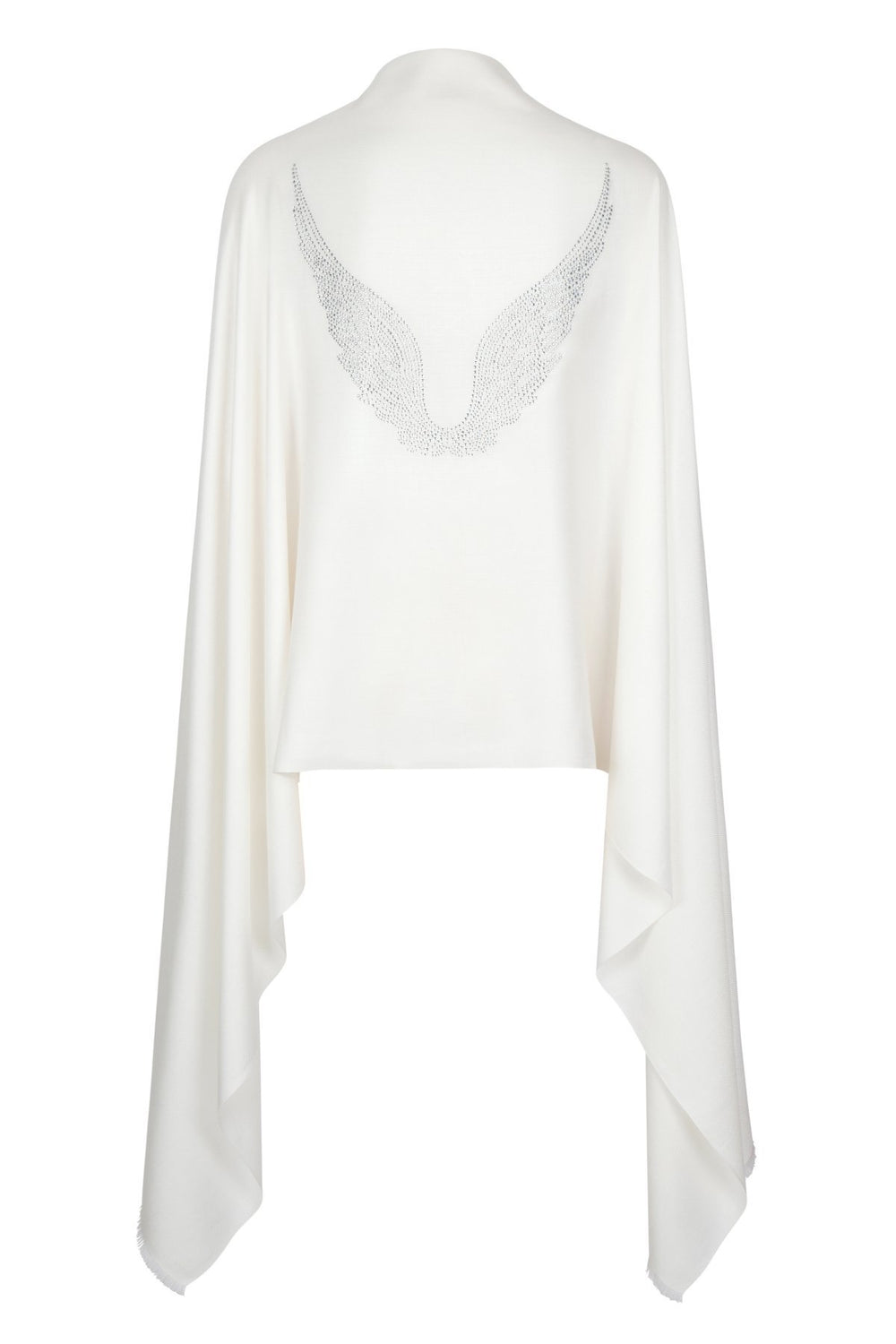 Angel Gabriel Ivory Wrap Wings Scarf for Communication, Family & Creativity