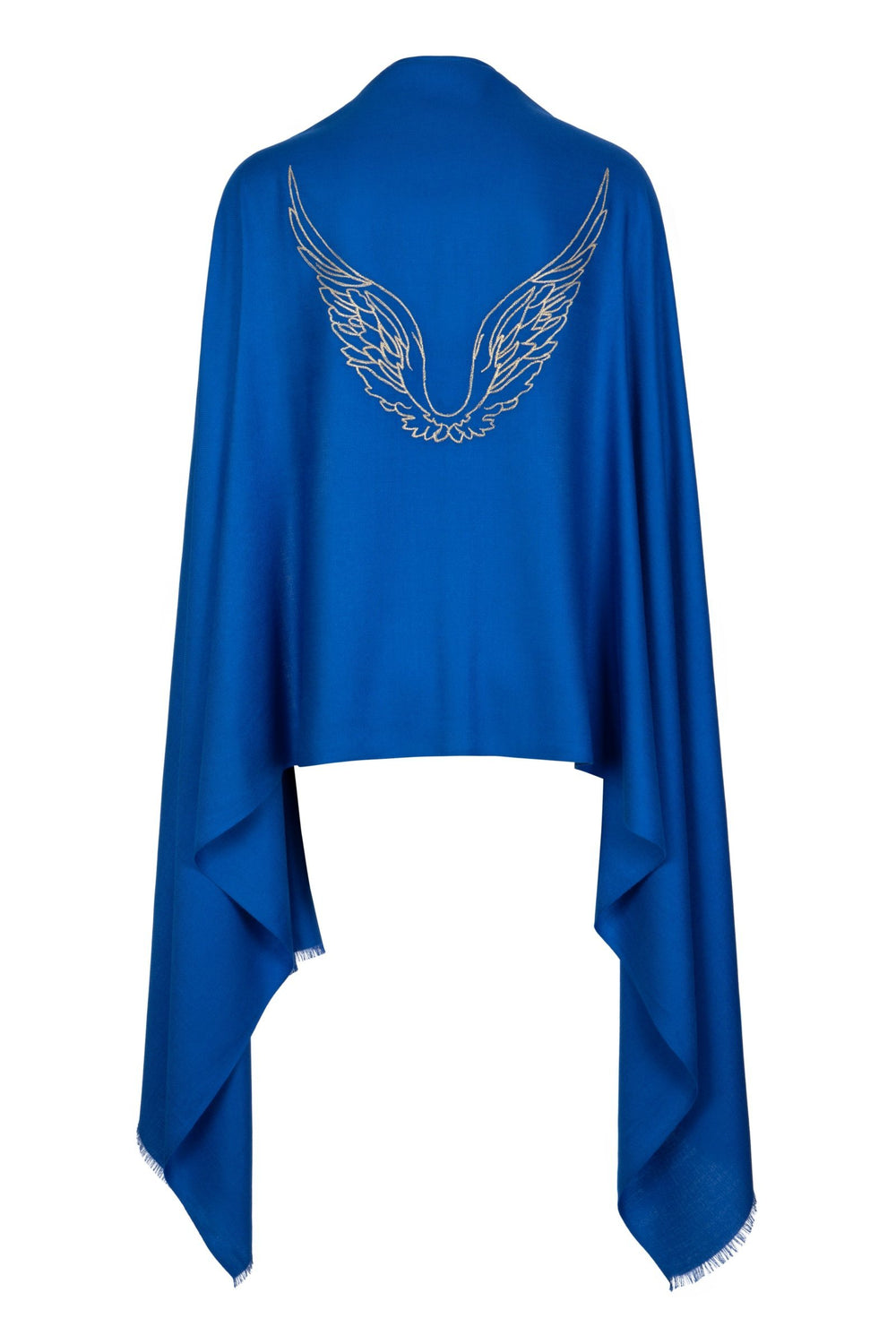 Angel Michael Blue Wrap Embroidered Wings Wrap Scarf for Protection, Strength & Courage