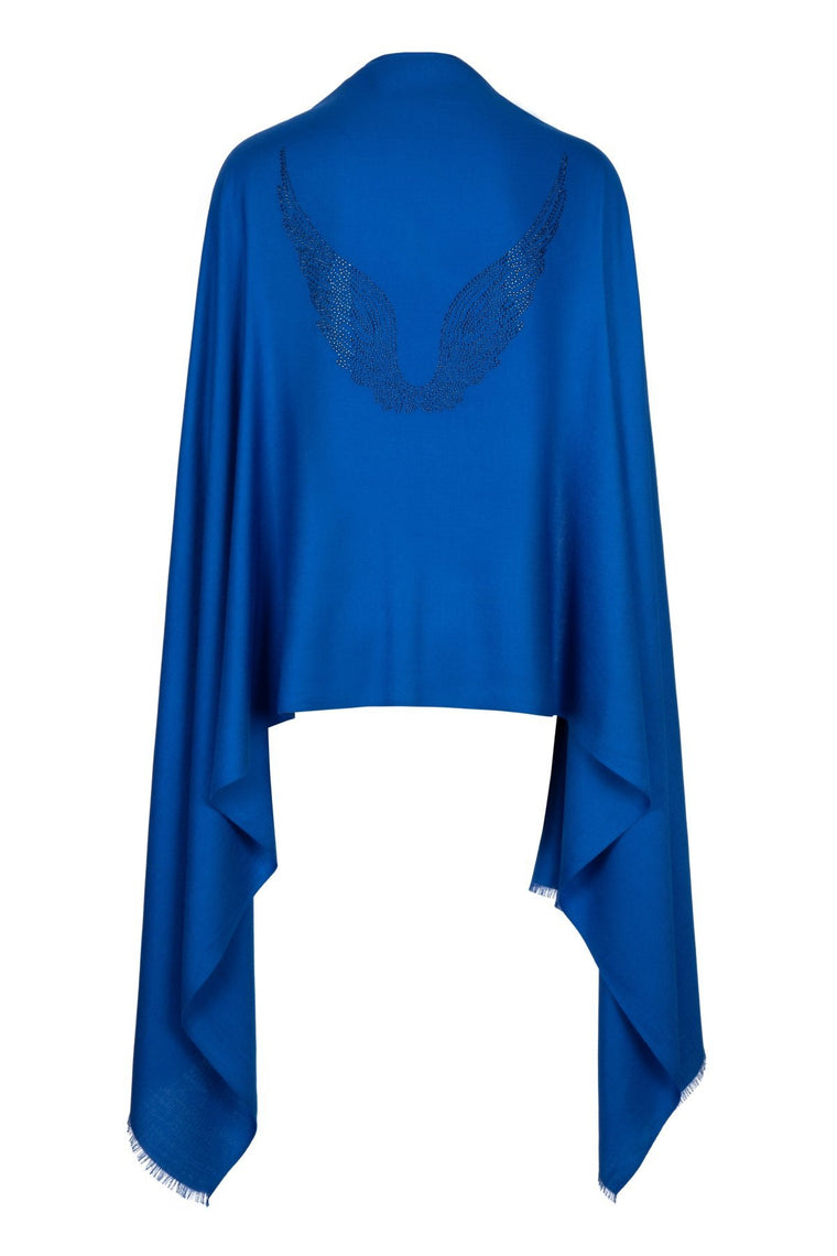 Angel Michael Blue Wrap Wings Scarf for Protection, Strength & Courage