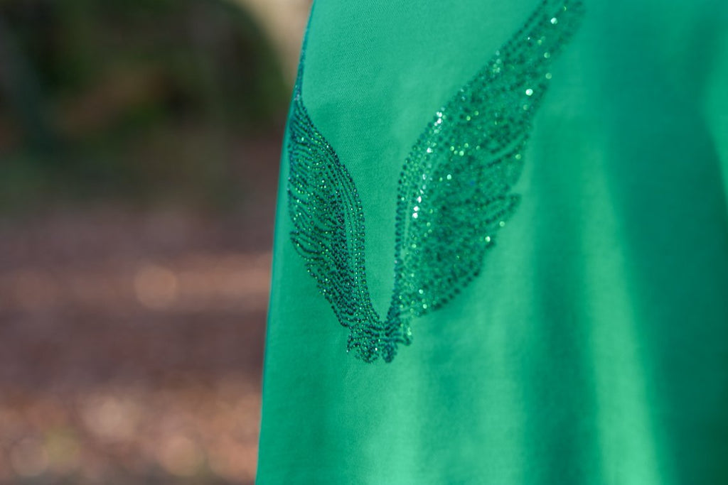 Angel Raphael Green Wrap Wings Scarf for Healing, Travel & Guidance