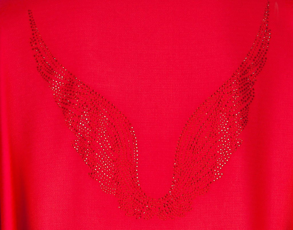 Angel Uriel Red Wrap Wings Scarf for Inspiration, Study & Success