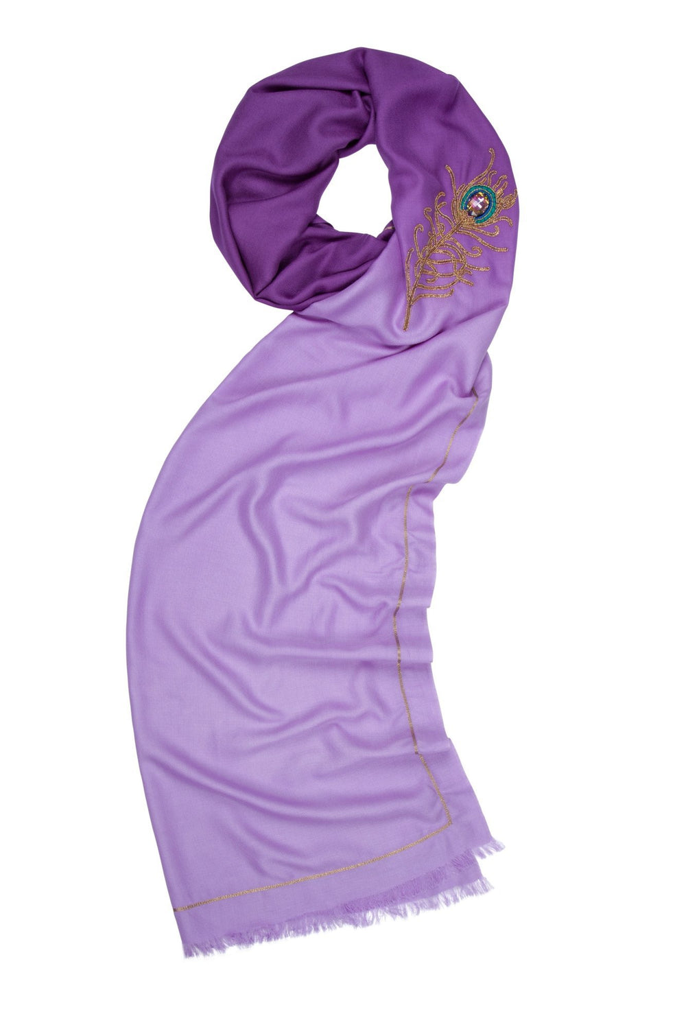 7th Heaven angel Raphael purple spiritual wrap scarf