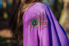 7th Heaven angel Raphael purple spiritual wrap scarf for for PROTECTION, STRENGTH and COURAGE