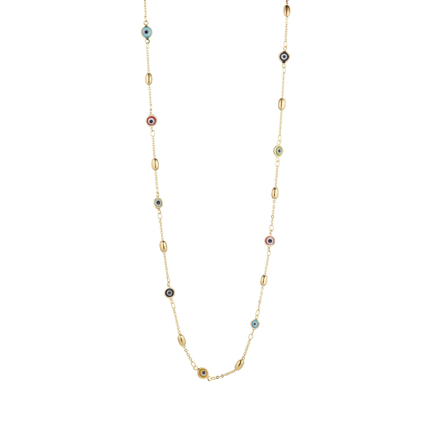 Chain Necklace With Third Eye Charms For Protection