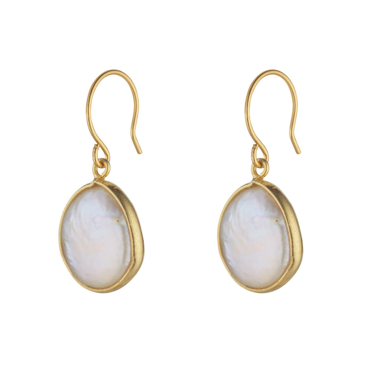 Handmade Freshwater Pearl Purity Earrings