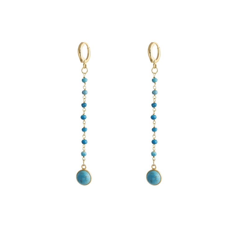 Handmade Natural Turquoise Serenity Drop Earrings