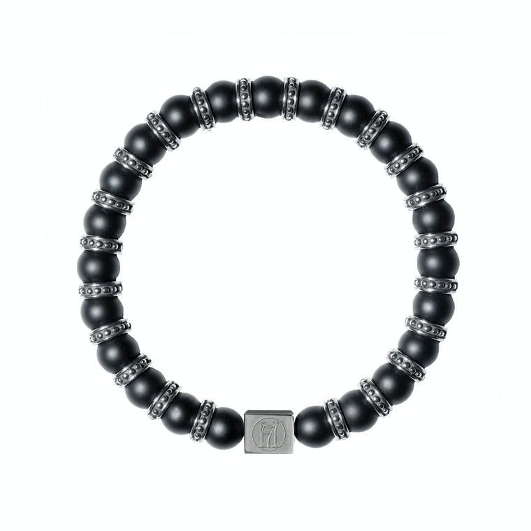 Men's Matte Black Onyx Bracelet Bracelet for Strength, Power & Protection