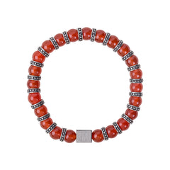 Men's Red Carnelian Bracelet for Endurance, Leadership and Courage