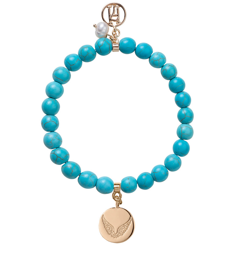 New! LARGER Delicate Beaded Turquoise Bracelet for Luck, Protection & Health