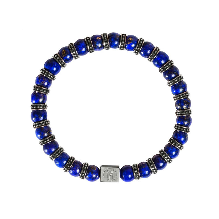 Men's Blue Lapis Bracelet for Wisdom, Honour & Power